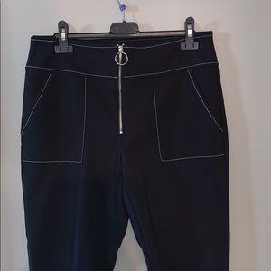 INC  High Waist  Zipper Pants & Shirt